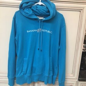 Banana Republic XL blue hoodie w/pockets